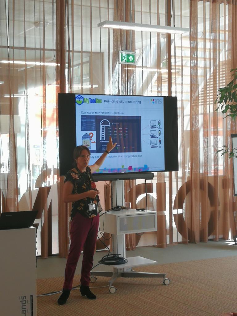 Ine Van der Fels-Klerx presenting at the Smart farming Conference in Venlo